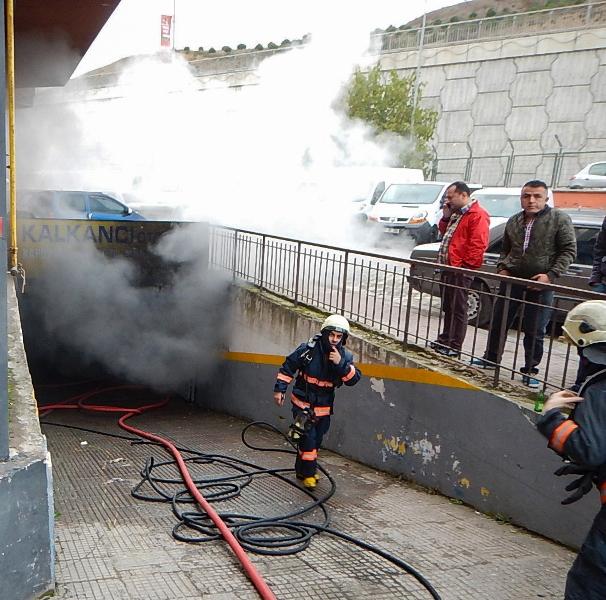 Galericiler Sitesinde işyeri yangını - Haberler - İstanbul İtfaiyesi