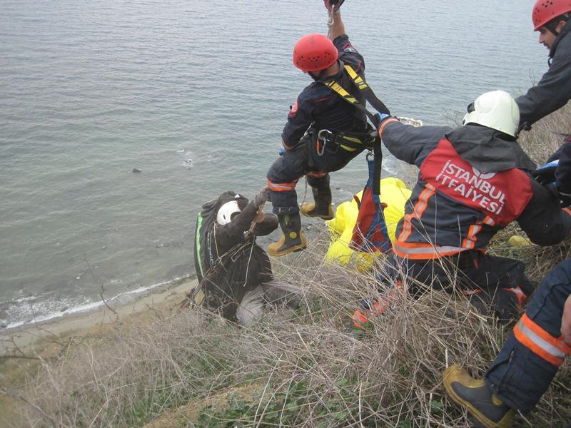 Silivride insan kurtarma - Haberler - İstanbul İtfaiyesi