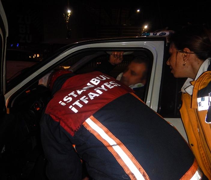 Sarıyerde trafik kazası - Haberler - İstanbul İtfaiyesi