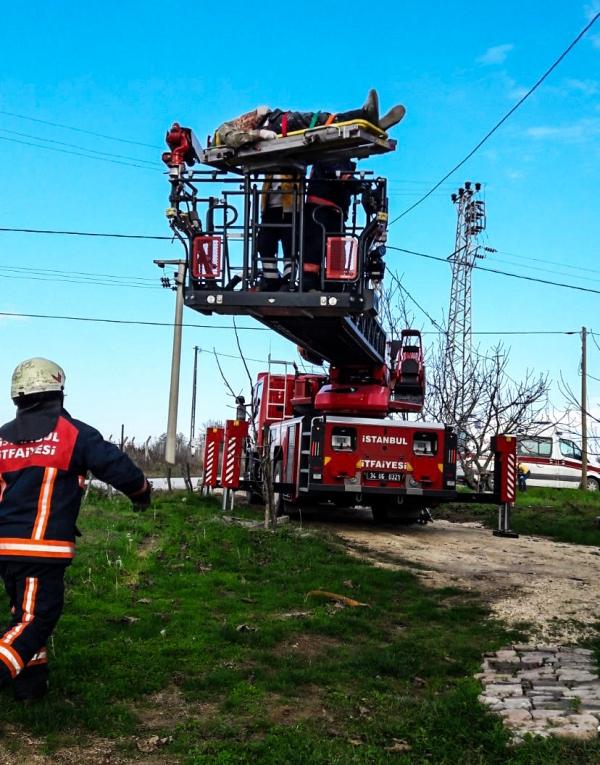 Çatalcada insan kurtarma - Haberler - İstanbul İtfaiyesi