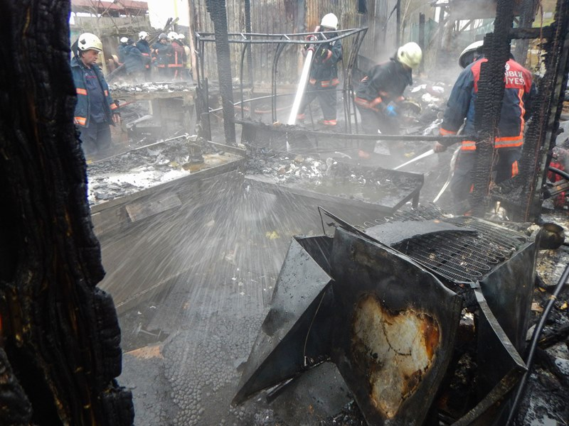 Şilede işyeri yangını - Haberler - İstanbul İtfaiyesi
