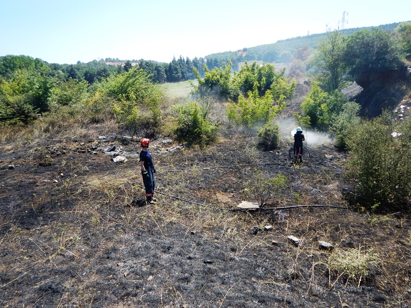 Sultanbeylide fundalık alan yangını - Haberler - İstanbul İtfaiyesi