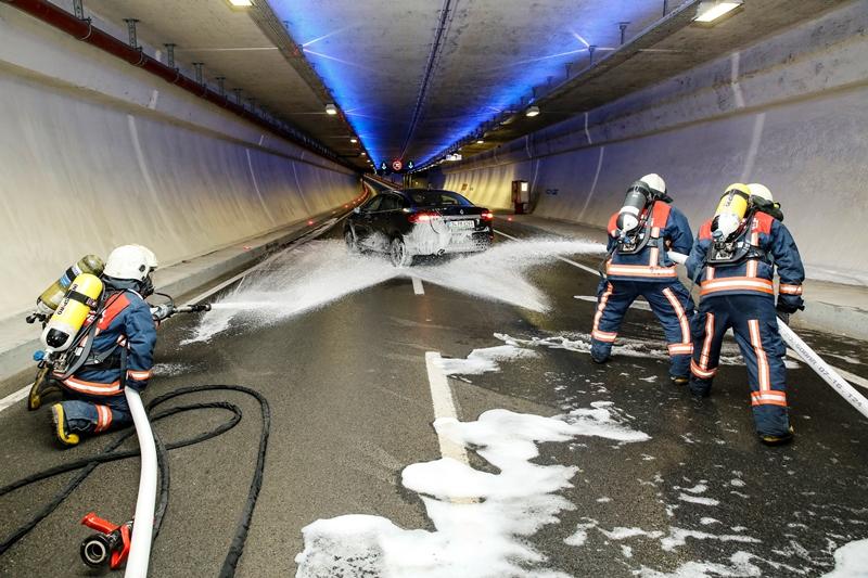 Avrasya Tünelinde tatbikat - Haberler - İstanbul İtfaiyesi
