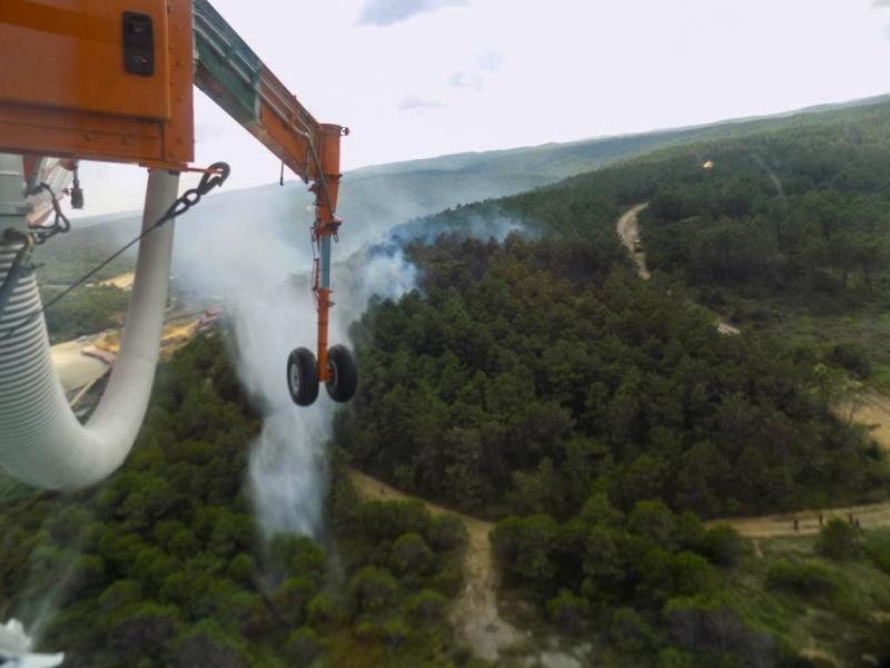 Yangın helikopterimiz Alev Kartalı iş başında - Haberler - İstanbul İtfaiyesi