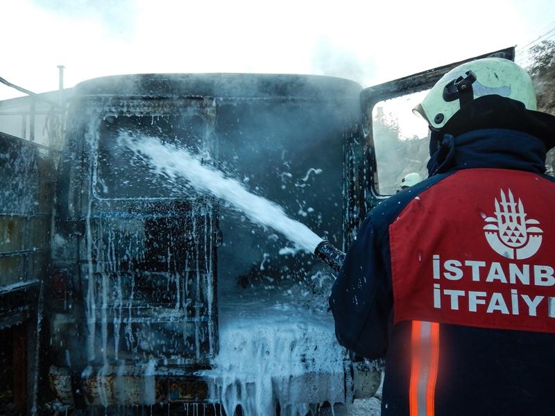 Beylikdüzüde hurdalık yangını - Haberler - İstanbul İtfaiyesi