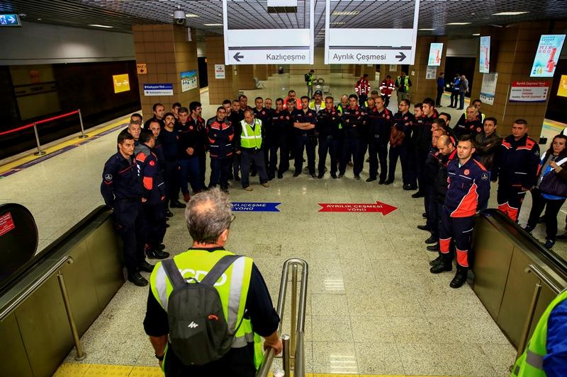 Marmaray Yenikapı İstasyonunda tatbikat gerçekleştirdik - Haberler - İstanbul İtfaiyesi