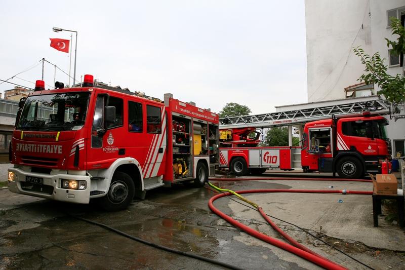 Küçükçekmecede iş yeri yangını - Haberler - İstanbul İtfaiyesi