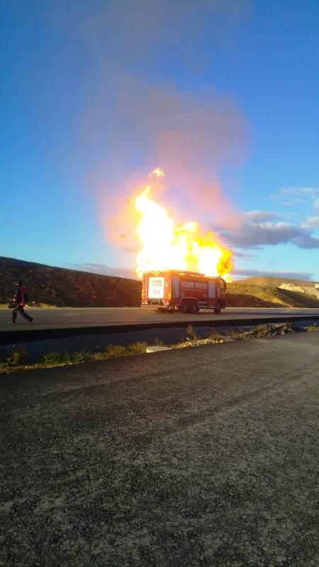 Silivride doğalgaz boru hattında patlama meydana geldi - Haberler - İstanbul İtfaiyesi