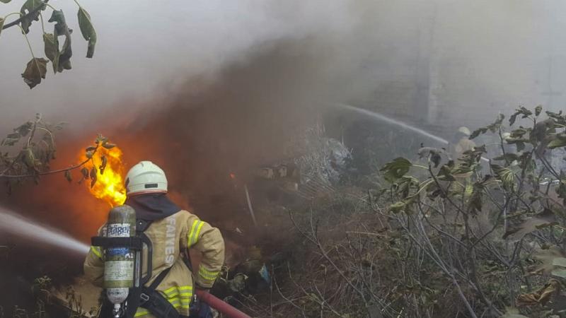Kartalda hurdalık yangını - Haberler - İstanbul İtfaiyesi