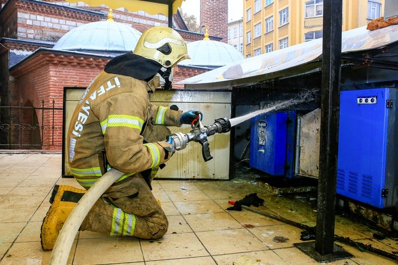 Tahtakalede işyeri yangını - Haberler - İstanbul İtfaiyesi