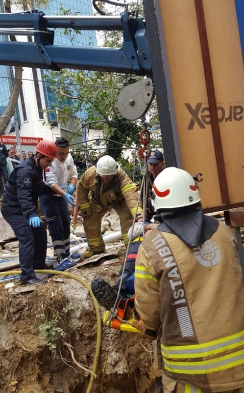 Kozyatağında insan kurtarma - Haberler - İstanbul İtfaiyesi
