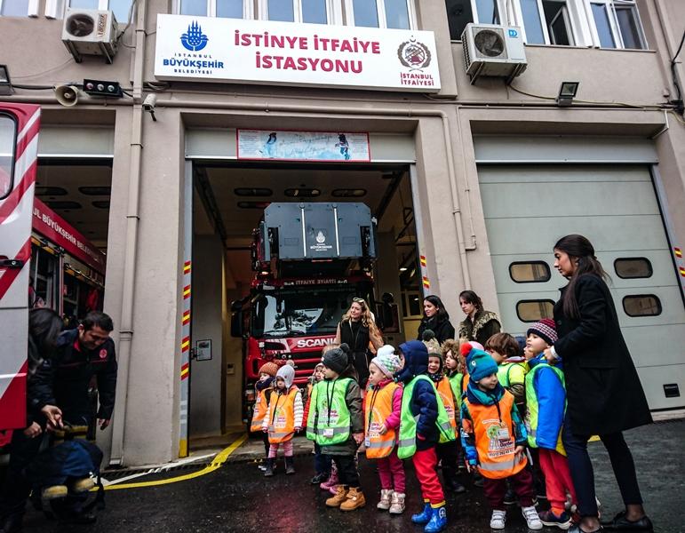 Anaokulu öğrencilerinin İstinye İtfaiye grubumuzu ziyareti - Haberler - İstanbul İtfaiyesi