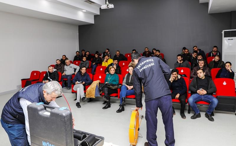 Özel Sektör Eğitimlerimiz Baca Bilgisi ve Müdahale Teknikleri Eğitimi ile devam ediyor - Haberler - İstanbul İtfaiyesi