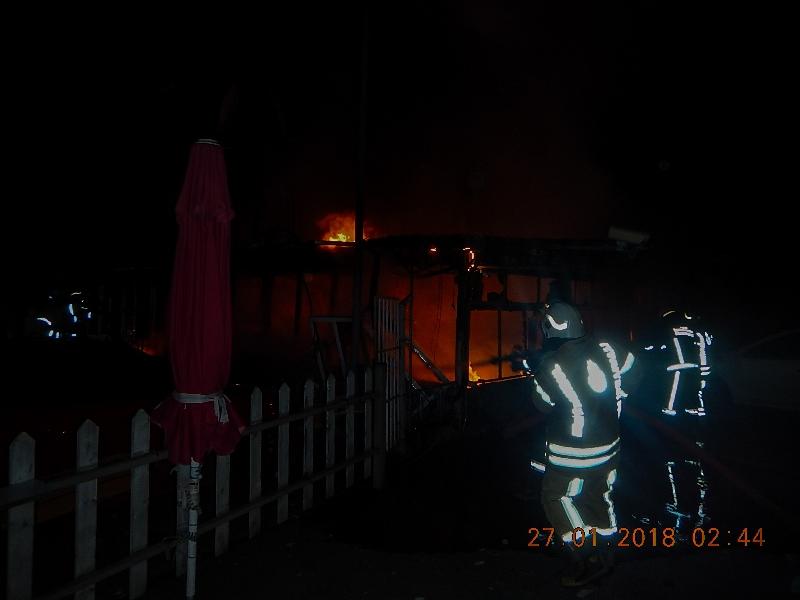 Güngörende işyeri yangını - Haberler - İstanbul İtfaiyesi