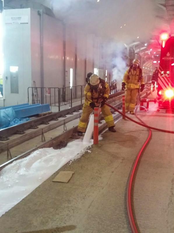 Maltepe Metro Bakım Onarım Atölyesinde yangın tatbikatı yaptık - Haberler - İstanbul İtfaiyesi