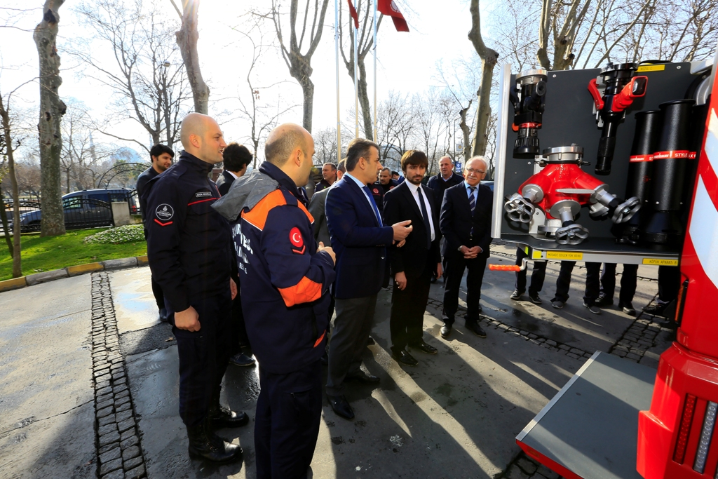 AFAD Başkanı teşkilatımızı ziyaret etti - Haberler - İstanbul İtfaiyesi