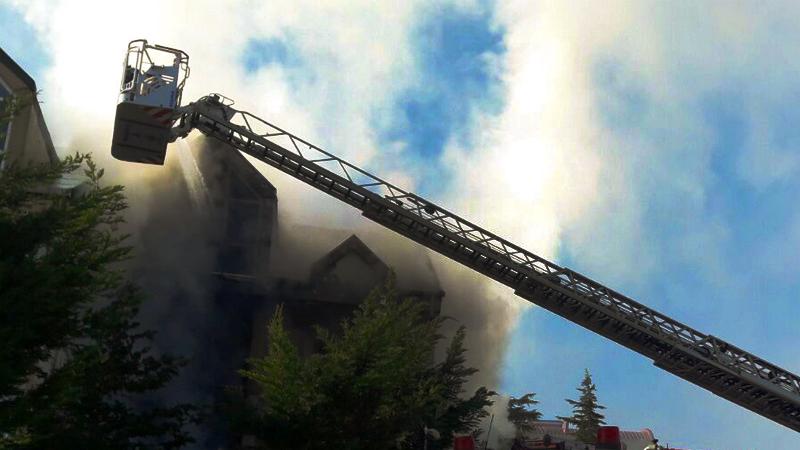 Başakşehirde ikametgah yangını - Haberler - İstanbul İtfaiyesi