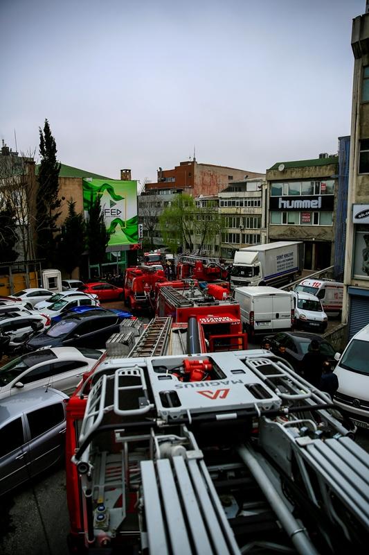 Güngörende iş yeri yangını - Haberler - İstanbul İtfaiyesi