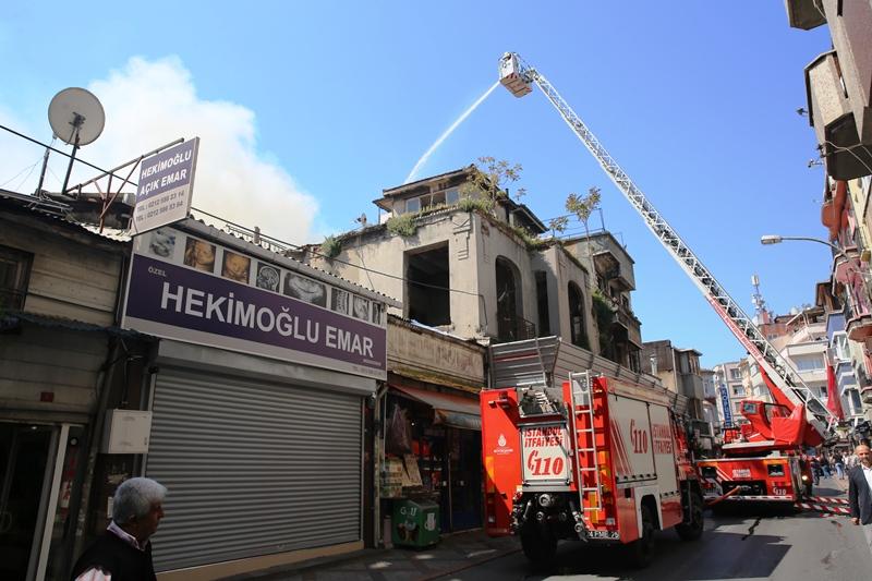 Cerrahpaşada metruk bina yangını - Haberler - İstanbul İtfaiyesi