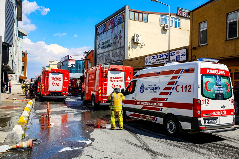 Gaziosmanpaşada iş yeri yangını - Haberler - İstanbul İtfaiyesi