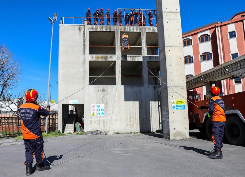İleri Düzey Kurtarma Eğitimimiz devam ediyor - Haberler - İstanbul İtfaiyesi