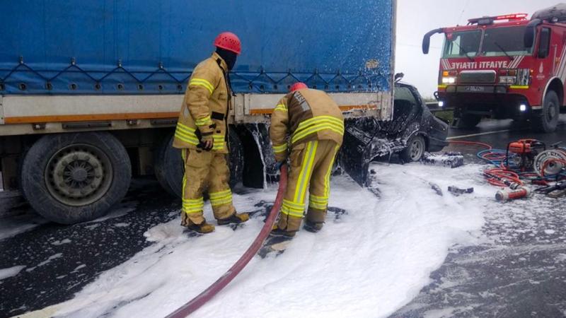 Arnavutköyde trafik kazası - Haberler - İstanbul İtfaiyesi