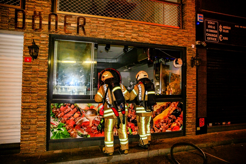 Sirkecide iş yeri yangını - Haberler - İstanbul İtfaiyesi