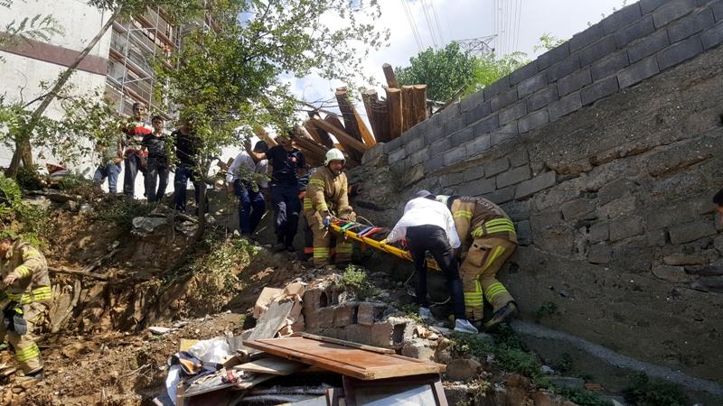 Eyüpsultanda insan kurtarma - Haberler - İstanbul İtfaiyesi
