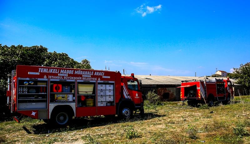 Arnavutköyde iş yeri yangını - Haberler - İstanbul İtfaiyesi