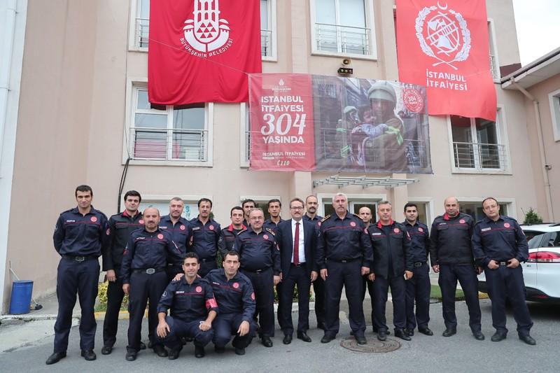 Başakşehir Belediye Başkanı Sayın Yasin Kartoğlu Başakşehir grubumuzu ziyaret etti - Haberler - İstanbul İtfaiyesi