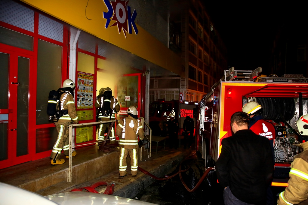 Workplace fire in Fatih - News - Istanbul Fire Department
