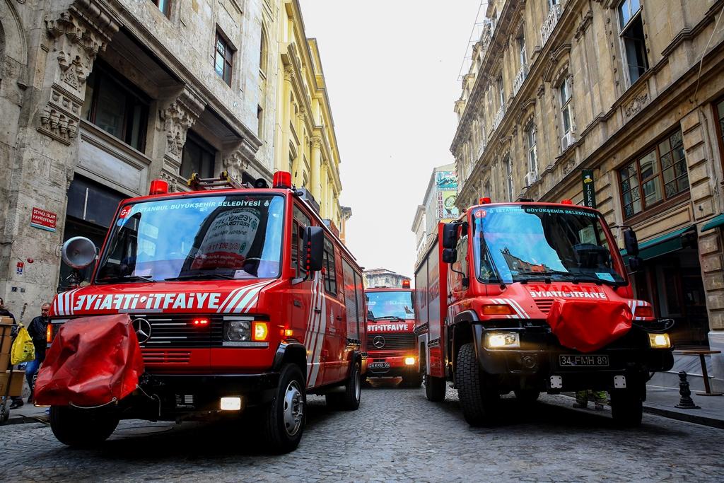 Eminönünde iş yeri yangını - Haberler - İstanbul İtfaiyesi