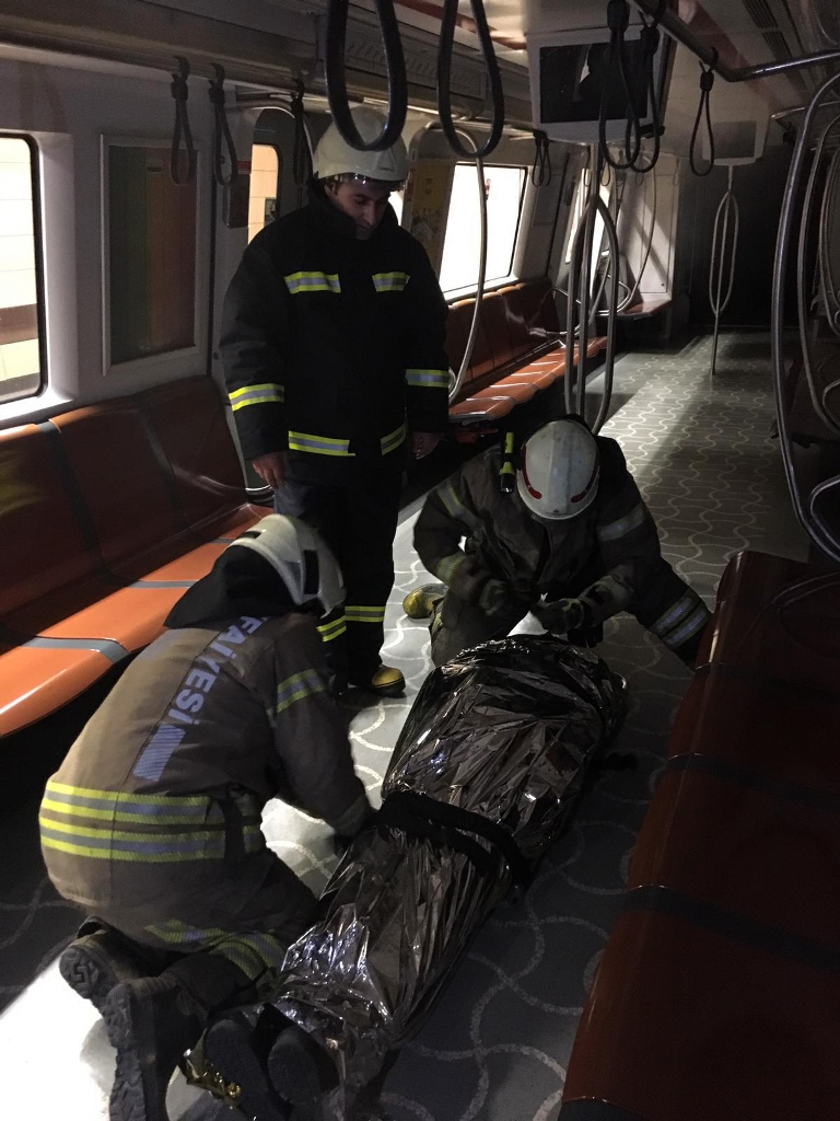 We conducted a fire drill in Metro Istanbul - News - Istanbul Fire Department