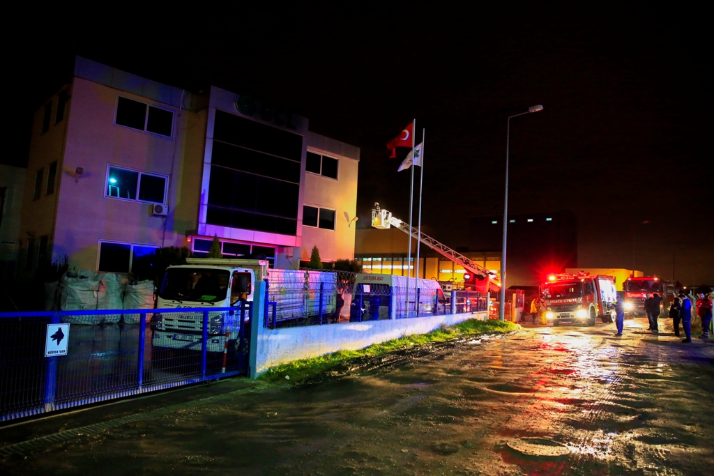 Factory fire in Silivri - News - Istanbul Fire Department