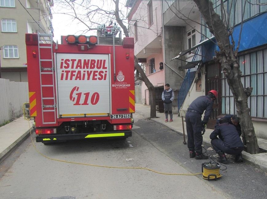 Tuzlada hayvan kurtarma - Haberler - İstanbul İtfaiyesi