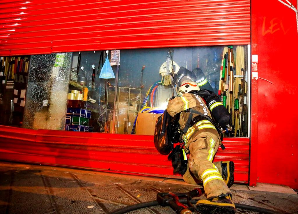 Süleymaniyede iş yeri yangını - Haberler - İstanbul İtfaiyesi