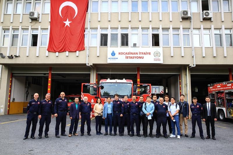 Güney Koreden gelen itfaiye heyetini misafir ettik - Haberler - İstanbul İtfaiyesi