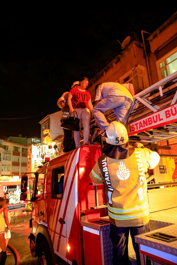 Flat fire in Fatih - News - Istanbul Fire Department