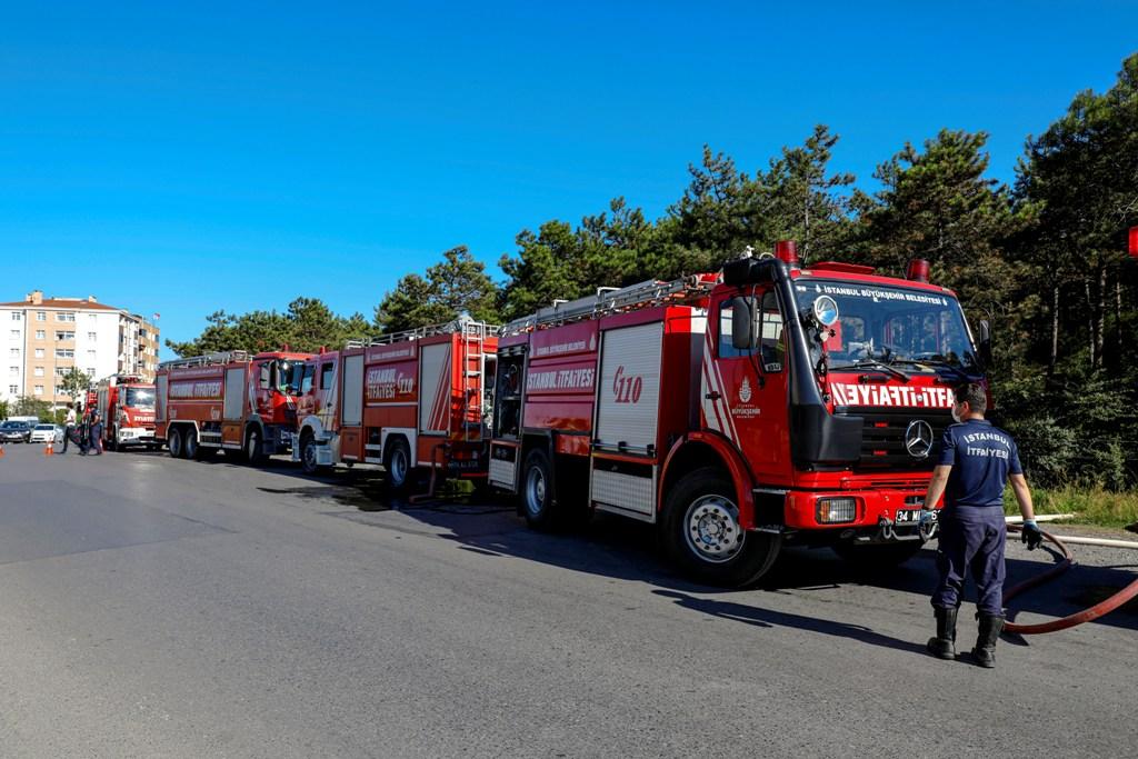 Ataşehirde orman yangını - Haberler - İstanbul İtfaiyesi